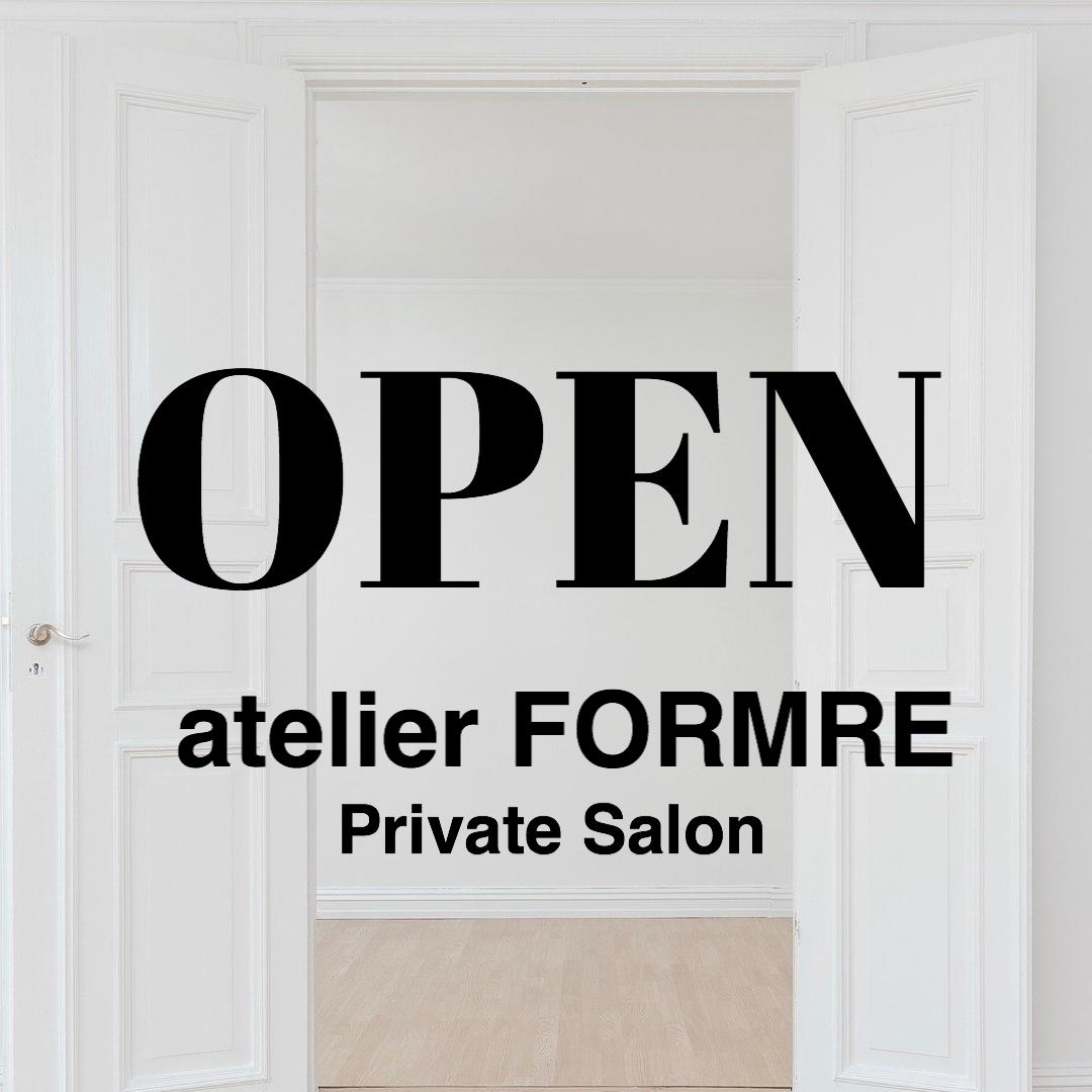 アトリエフォルマーレ・プライベートサロンオープンのお知らせ